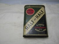 VINTAGE BURLEY & BRIGHT PIPE TOBACCO HALF & HALF TIN CONTAINER