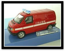"wonderful modelcar Korean firebrigade VW T4-VAN  ""119"" - red - scale 1/43 - lim."