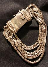 Sterling Silpada GO GORGEOUS 6 Strand Bracelet B1452
