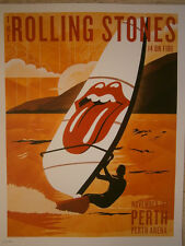 Rolling Stones poster Perth  lithograph   14 on FireTour LITHO australia