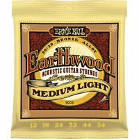 Ernie Ball Acoustic Guitar Strings Eathwood Phosphor Bronze 80/20 Medium Light