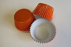 *NEW COLOUR*  pack of 50 x ORANGE Foil muffin / cup cake cases