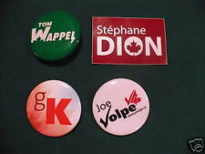 LIBERAL PIN BACKS DION, KENNEDY, VOLPE, WAPPEL