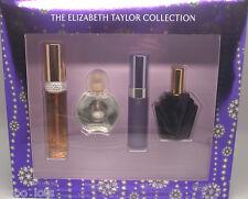 The Elizabeth Taylor Collection ** 4 Piece Gift Set ** 2 Parfum + 2 EDT