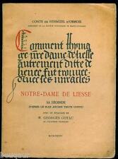 Comte HENNEZEL D'ORMOIS Notre-Dame de liesse Sa Légende - E. O. 1934 Aisne Laon