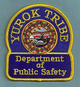 YUROK CALIFORNIA TRBAL PUBLIC SAFETY SHOULDER PATCH