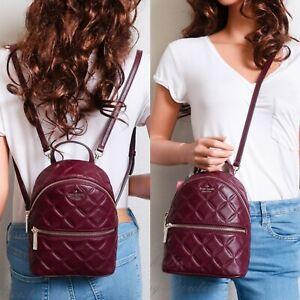 NWT Kate Spade Natalia Mini Convertible Leather Backpack in cherrywood