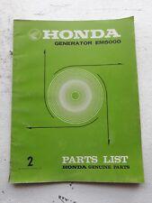 Honda Generator EM5000 Factory Parts Manual 1976 print