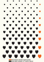 Heart Stencil Love Pattern Paint Wall Furniture Reusable Template Crafts TE262