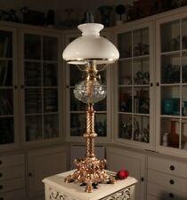 hohe 81cm Jugendstil Petroleumlampe Prunk - Wappen Lorbeerkranz Löwentatzen etc.
