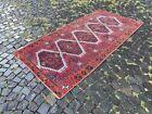 Runner rug, Turkish rug, Vintage rug, Handmade rug, Wool, Carpet | 3,8 x 7,7 ft