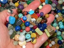 NEW 4/oz LOT Mix Semi Precious Gemstone, Agate 6-20mm Drilled MIXED Beads