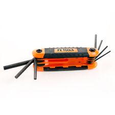 Werkzeug Schlüssel 8 Teile Imbus klappbar Sechskant Innensechskant Set