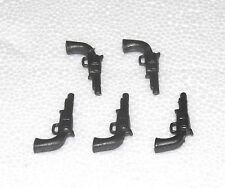 5 pistolas revolver Playmobil a holster norte-sudistas vaquero armas 1009