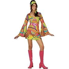 Retro Hippy Girl XL Plus Size UK 22-24 Ladies Hippie 1960s Fancy Dress Costume