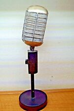 Vntg Style Microphone & Stand Theater Prop Faux Replica Decor 1940'S 50'S 60'S