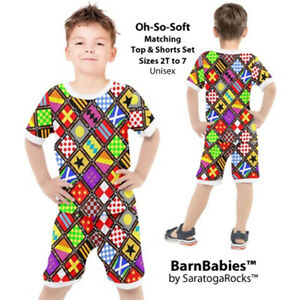 BarnBabies™ Kentucky Derby Inspired Top & Shorts Sets - Toddler to Size 7