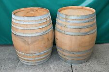 Genuine French Oak Wood Patio Full Wine Barrel Barrique Garden Plant Bar Table