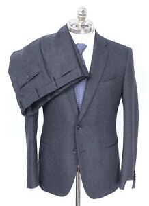 NWT CARUSO For Gusti Gray Twill Wool 2 Btn Slim Fit Suit 40 R (EU 50) Drop 8