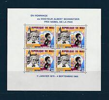 Mali Bloc   docteur Schweitzer  1966   num:  4    **