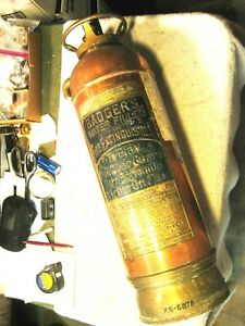 Antigue empty Badgers water filled cartridge type 2 1/2 gallon fire extinguisher
