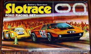 Vintage Hong Kong Dual Racer Slotrace - Slot Road Racing Set No. 201 - NOB