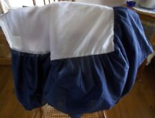 Mainstays King Size Bed Skirt Dust Ruffle Navy Blue Color