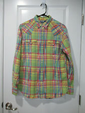 Polo Ralph Lauren Pearl snap-button Western Shirt in plaid size Medium EUC!