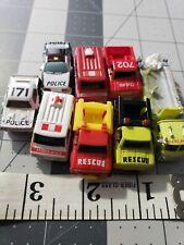 8 Vintage Emergency Vehicles Micro Mini Cars