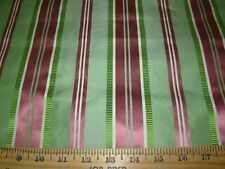 BTY~100% SILK STROHEIM SHIRRED STRIPES WOVEN DRAPERY UPHOLSTERY FABRIC FOR LESS