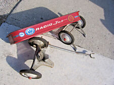 """Vintage Rare Full Size 34"""" Radio Jet Wagon Red and white For parts AS IS"""