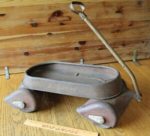 "Antique Hy-Speed Pull Wagon Vintage 23"" Child's toy Steel Vintage airflow scamp"