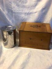 Vintage Kodak Film Tank And Wooden Box Model B2