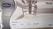 Harbor Breeze Mazon 44-in Brushed Nickel Flush Mount Indoor Ceiling Fan
