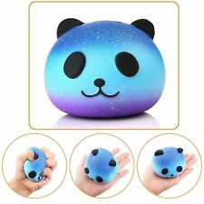 Jumbo Squishy Blue Panda Soft Squeeze Toy Slow Rising Charm Squishies USA Seller