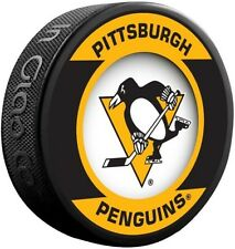 Pittsburgh Penguins Official NHL Retro Logo Souvenir Hockey Puck