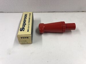 Superior Electric Supercon PS50GR Red 50 Amp Socket Receptacle- Brand New