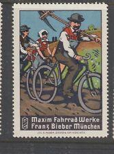 German Poster Stamp Maxim Bicycles