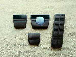 1973-79 CHEVY II NOVA DISC Brake Clutch Gas Accelerator Pedal Rubber Pad 4PC KIT