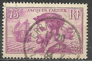 France 1934 Stamp Scott #296 Used 75c Jacques Cartier
