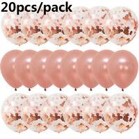 fournitures de mariage l'or rose bandes de confettis ensemble ballons en latex