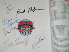 SIGNED NEW YORK KNICKS Basketball 50th Anniversary Book Kalinsky Fan Collectible