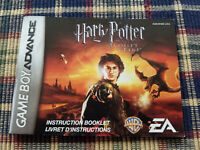 Harry Potter and the Goblet of Fire - Authentic - Game Boy Advance - Manual Only