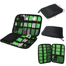Portable Electronic Accessories Cable USB Drive Organizer Bag Insert Case Black