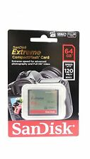 SanDisk EXTREME CF 64GB COMPACT FLASH Memory Card HD VIDEO 120MB/s* UDMA 7