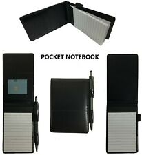 Pocket Notepad Cover Server Book Waiter Memo Order Pad Organizer Black 5