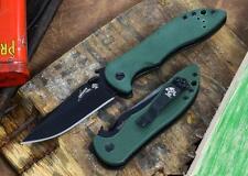 Couteau Kershaw Emerson CQC-5K Acier 8Cr14MoV Manche G-10 Olive KS6074OLBLK