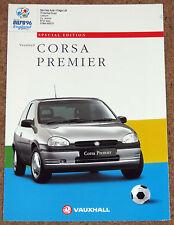 1996 VAUXHALL CORSA PREMIER 1.2i 1.4i Sales Brochure - Special Edition Model