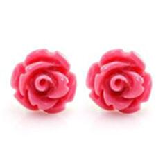 U Pick 1Pair Blooming Rose Flower Stud Earring Classic Vintage