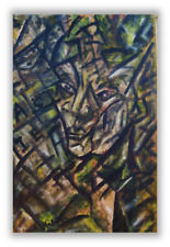 Wonderful Cubist painting signed 20th century Oil on canvas PICASOO style